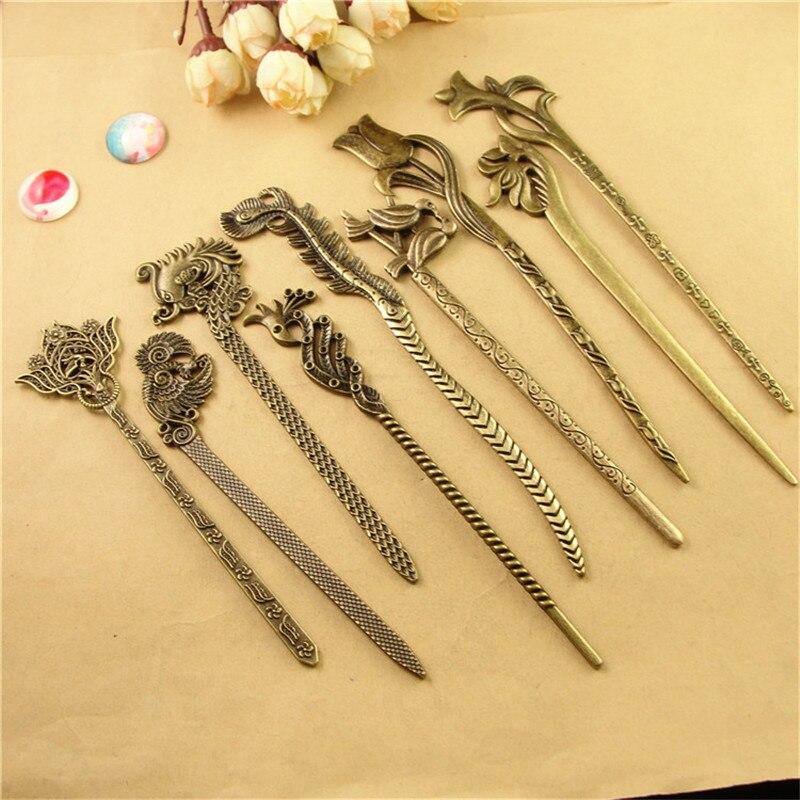 10pcs japanese hair sticks metal