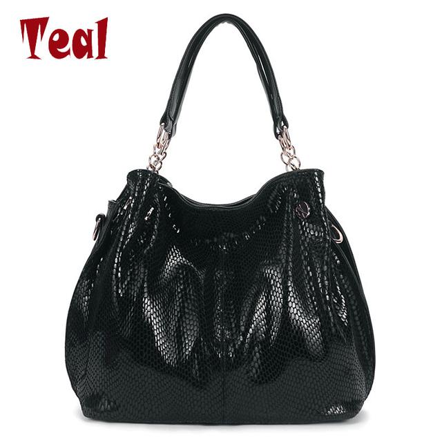 Bolso con asas bolsa de hombro de las señoras de lujo de las mujeres mujeres de los bolsos diseñador famoso marca serpentina bolsa de grandes de la moda