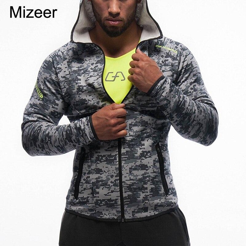 Mens Hoodies Hot Sale 2017 Fitness Brand Long Sleeve Bodybulding Shark Zipper Sweatshirts Gyms Muscle Fit