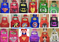 Superhero Costumes Girl boy Cape and Mask HeadBand SET Masks Party Supplies for Kids Christmas Halloween Creative Funny Toys
