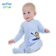 2016 Retail New Fashion Baby Romper Clothing Body Suit Newborn Long Sleeve Kids Boys Girls Rompers Baby Clothes Roupa Infantil(China)
