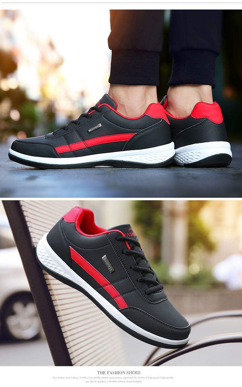 Fashion Men Sneakers for Men Casual Shoes Breathable Lace up Mens Casual Shoes Spring 2019 Leather Shoes Men chaussure homme