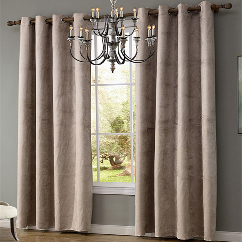Xyzls Modern Simple Suede Fabric Solid Curtains 40 70