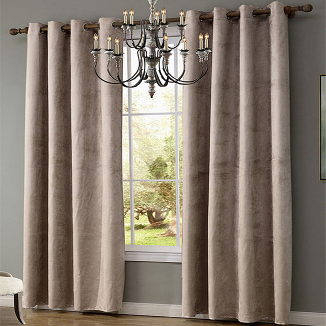 XYZLS Modern Simple Suede Fabric Solid Curtains 40 70 Blackout Curtain Shade Window