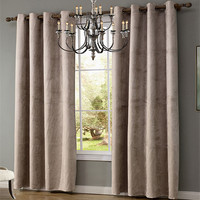 XYZLS Simple Suede Fabric Solid Curtains 40 70 Blackout Curtain Shade Window Drapes Cotinas For Bedroom