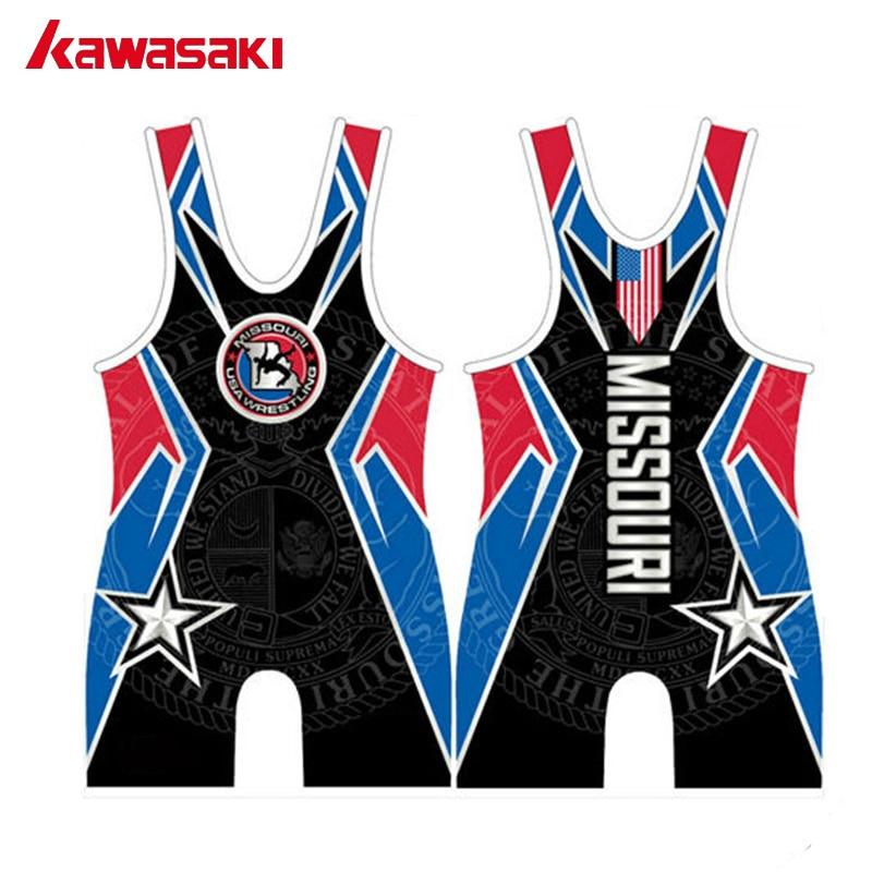 Kawasaki Custom Practice Men's Professional Wrestling Singlet Weightlifting Suit Breathable Sexy Training Jersey Underwear