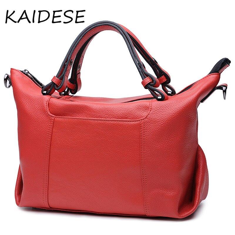 KAIDESE simple leisure, large capacity handbag, female leather hand made head layer, leather school, wind slanting satchel femal xml made simple