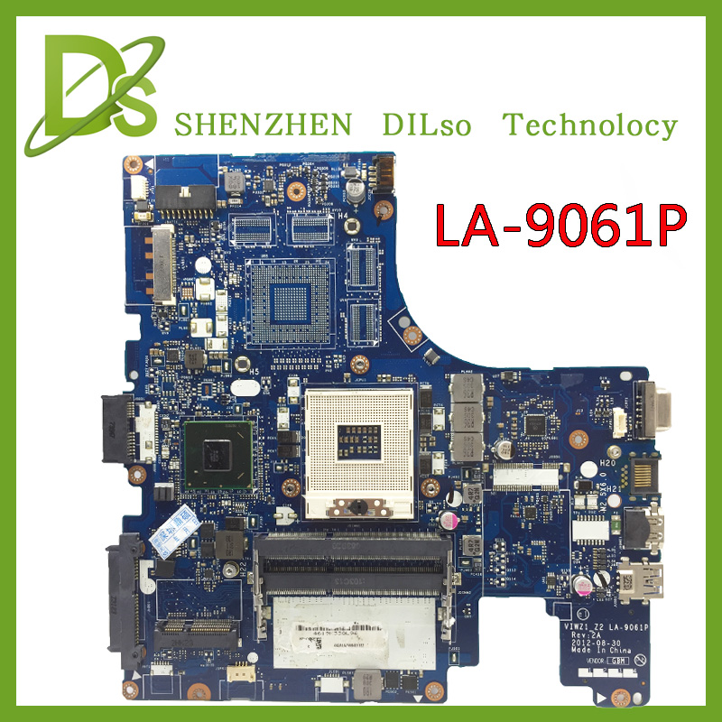 KEFU LA-9061P motherboard For Lenovo VIWZI-Z2 LA-9061P  Z400 laptop motherboard Z400 mainboard rev2A  100% tested  free shipping free shipping laptop motherboard for z500 viwz1 z2 viwz2 la 9061p 11s90002215 slj8e motherboard 100% tested