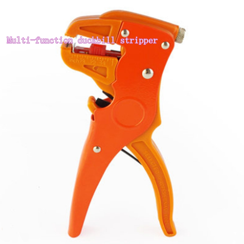 Multi - functional duckbill stripping pliers wire clamp Olecranon peeling pliers electric wire peeler pliers multi functional portable slicer peeler shredder white