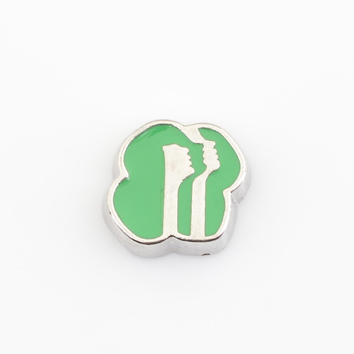 Girl Scouts, Floating charms,Fit floating charm lockets, FC0308