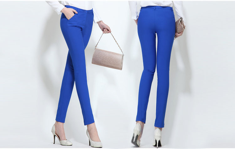 18 NEW women's casual OL office Pencil Trousers Girls's cute 12 colour Slim Stretch Pants fashion Candy Jeans Pencil Trousers 11