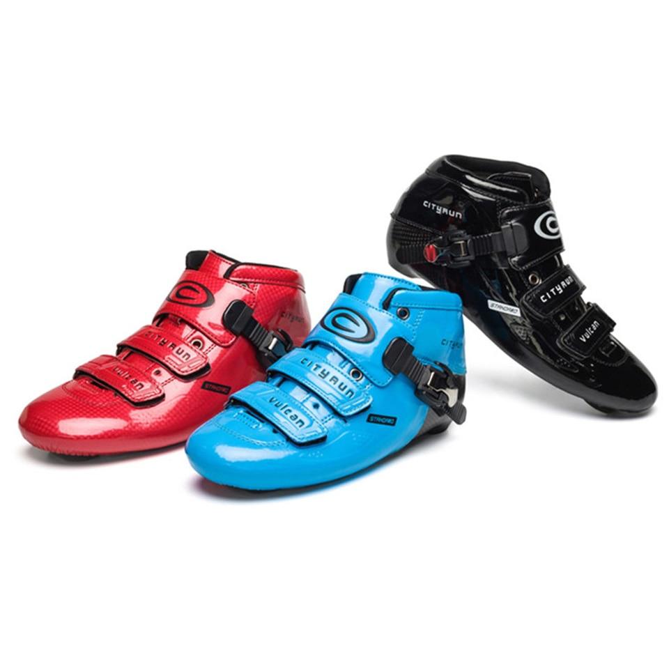 Cityrun-2 Up Bottes Vitesse roller-skates Carbone fibre chaussures hautes Course Professionnelle De Patinage Patines Boot Similaire Powerslide F043