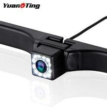 YuanTing Автомобильная камера заднего вида, водонепроницаемая, высокая четкость, цвет, широкий угол обзора, номерной знак, камера с 12 яркими светодиодами, ночное видение