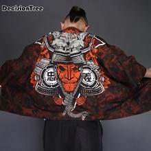 цена на 2019 japanese kimono cardigan men wave print long street style kimono cardigan men black kimono cardigan male coat