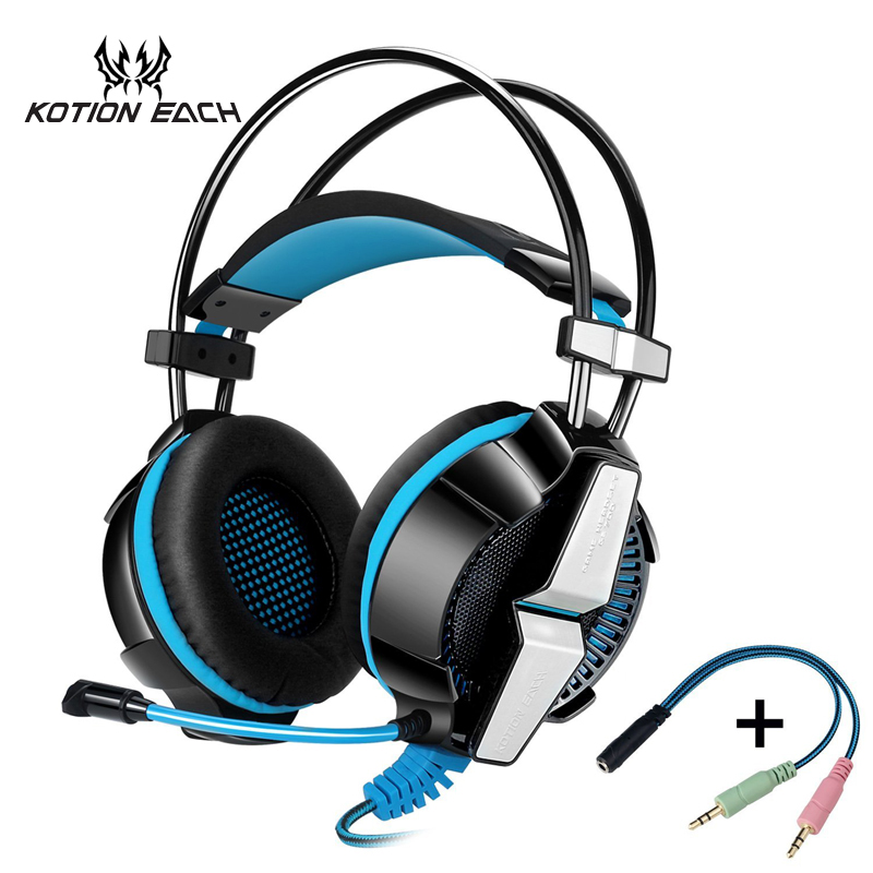 2016 KOTION EACH GS700 Gaming Headset  Gaming Headphones Earphone with Microphone Led Light for PS4 PC gamer Laptop Computer kotion each g2000 gaming headset pc gamer headphones headphone for computer auriculares fone de ouvido with microphone led light
