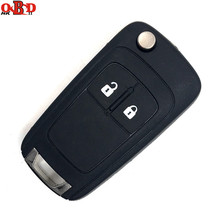 HKOBDII High quality 2 Buttons Flip Remote Key 315/433MHz For Chevrolet with ID46 CHIP and HU100 Blade