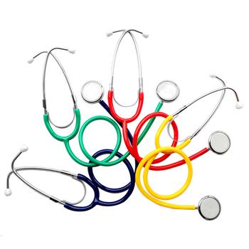 Medyczny profesjonalny pojedynczy klosz kardiologia stetoskop ciśnieniomierz śliczny EMT Student lekarz kliniczny Vet stetoskop tanie i dobre opinie Cute Stethoscope LYNSUM To listen to hear rate Cardiology Stethoscope Metal+PVC
