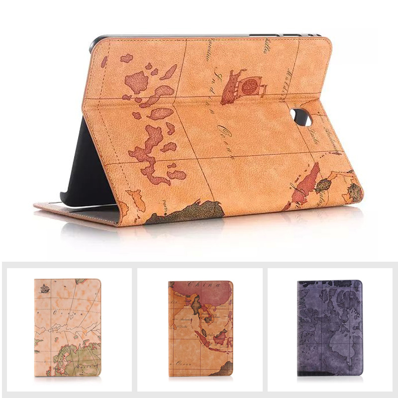 High Quality New Map Design Leather Tablet Case for IPAD Air 2 Luxury Flip Stand Wallet Cases for IPAD 6 Ultra Thin Carregador urban decay vice liquid lipstick водостойкая жидкая помада conspiracy