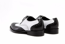 Formal Oxfords Shoes Large size EUR45 Black White Brown Weeding Shoes