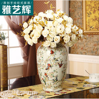 American French Country Garden Decoration High Temperature Ceramic Vase Bird Design Living Room Point New Chinese Home Decoratio