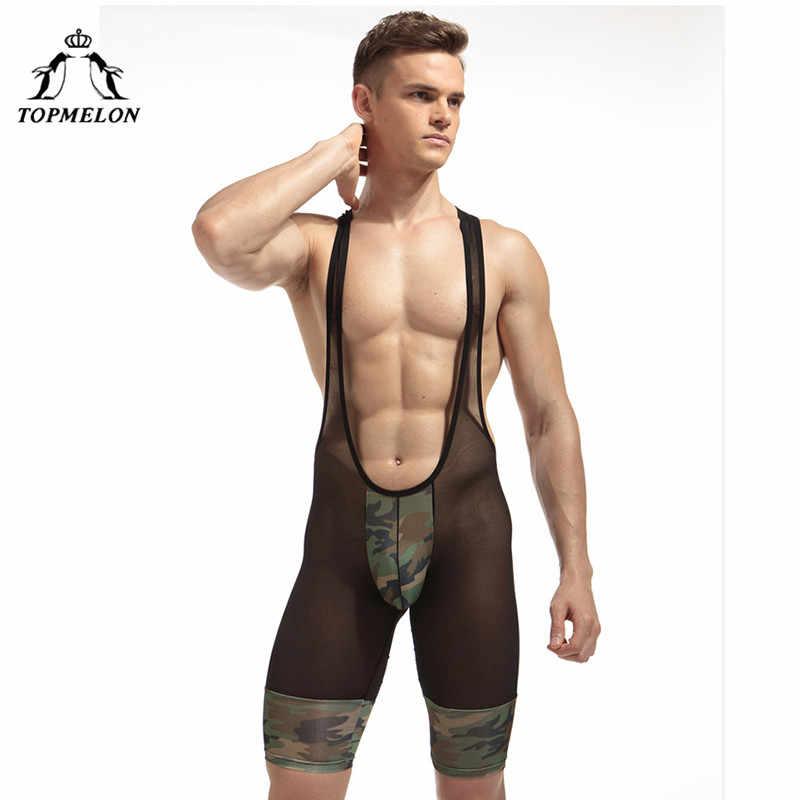 TOPMELON Shapewear для мужчин чулок для тела армейский зеленый камуфляж Цельный боди для похудения сексуальные подтяжки