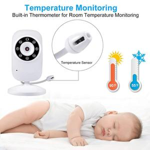 Image 3 - Newest Baby Monitor,3.5 inch LCD Screen Display Infant Night Vision Camera,Two Way Audio,Temperature Sensor,ECO Mode,Lullabies