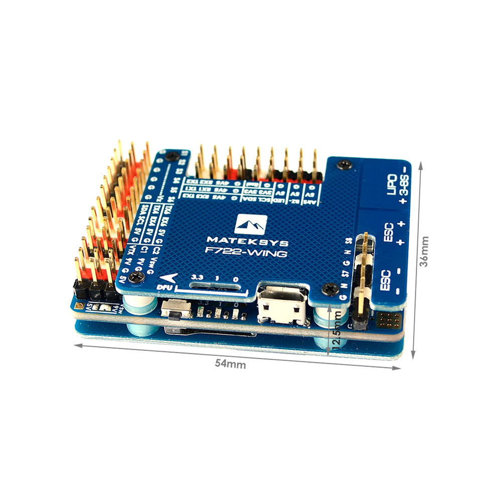 Matek Systems F722 WING STM32F722RET6 Flight Controller Built in OSD for RC Airplane Fixed Wing-in Parts & Accessories from Toys & Hobbies