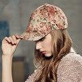 Kenmont brand Autumn Winter Warm Women Lady 100% Cotton Print Baseball Cap Visor Peaked Cap Corduroy Hat Adjustable Size 2272