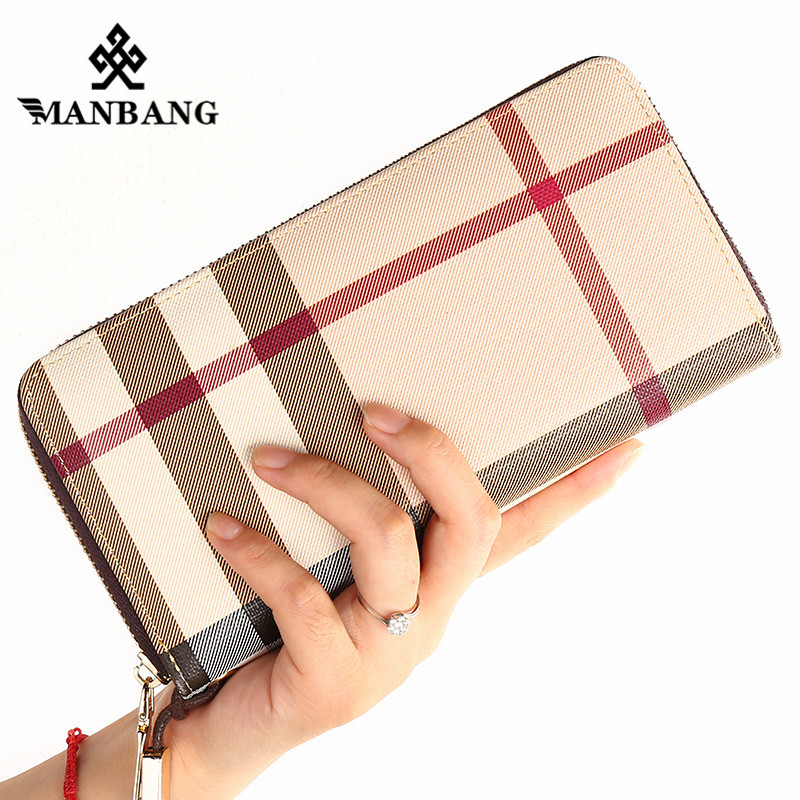 ManBang Women Wallet female long zipper men purse large capacity coin wallet purse brand new Fashion phone clutch free shipping 2pcs lot new fashion animal 3d cat dog printing coin purse 100% polyester zipper wallet brand women bag monederos wallet