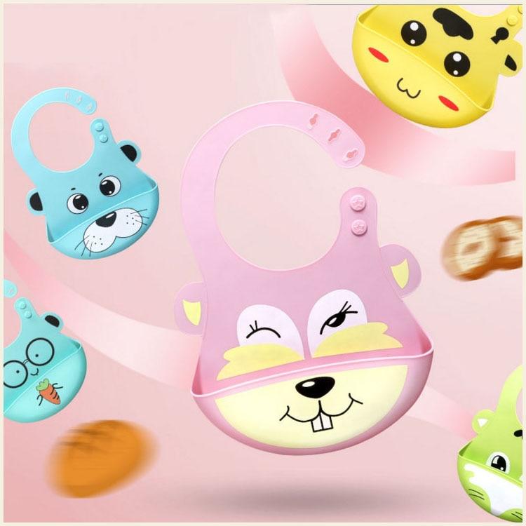 2017 Newborn Cartoon Waterproof Aprons Baby Bibs New Design Baby Bibs Waterproof Silicone Feeding Baby Saliva Towel