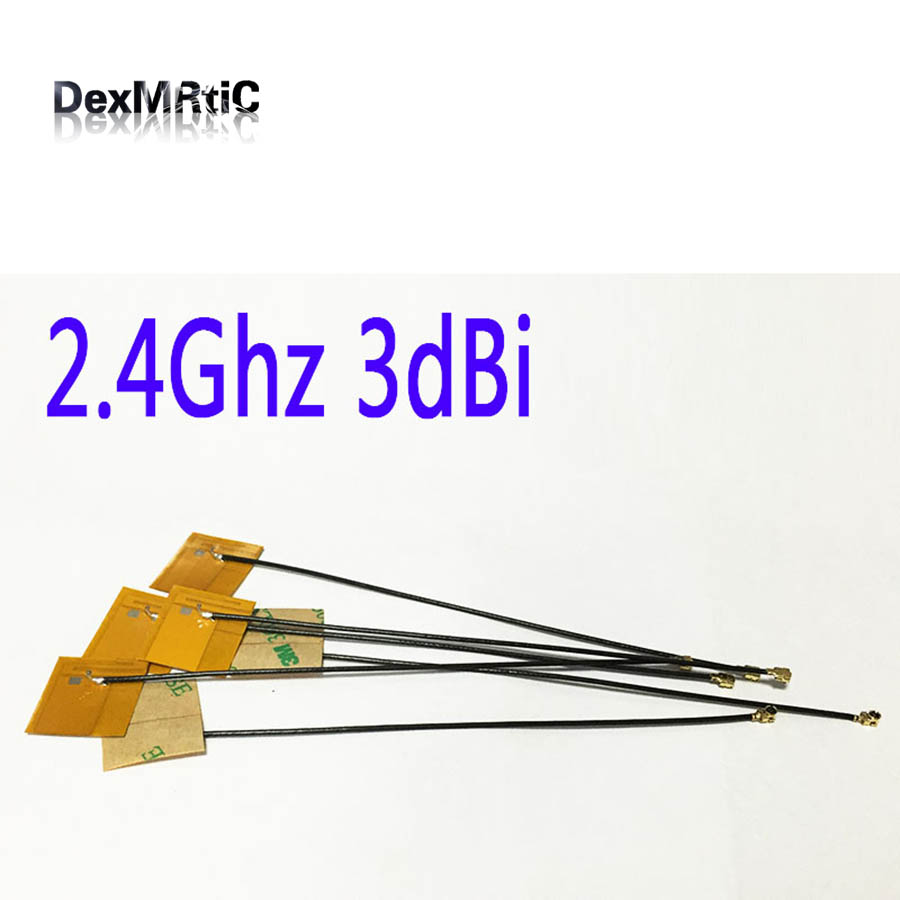 1PC 2.4Ghz 3dbi Wifi Internal Antenna Yellow Film FPC Soft Aerial IPEX #2