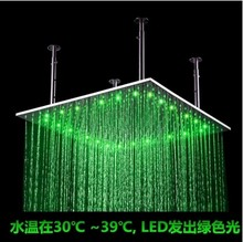 60CM square shower 24 inch square with lamp mirror large top spray 600 * 600 square LED shower(China)