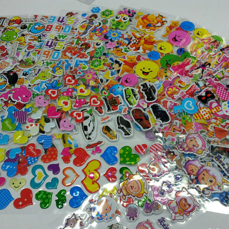 Free shipping 50pcs mixed anime 3d foam stickers boys for Animals decoration games