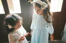 Pinkideal 2016 Spring Girl Dress Children Kids Dream Lace Ruffle Princess Long Sleeve Dress 331072