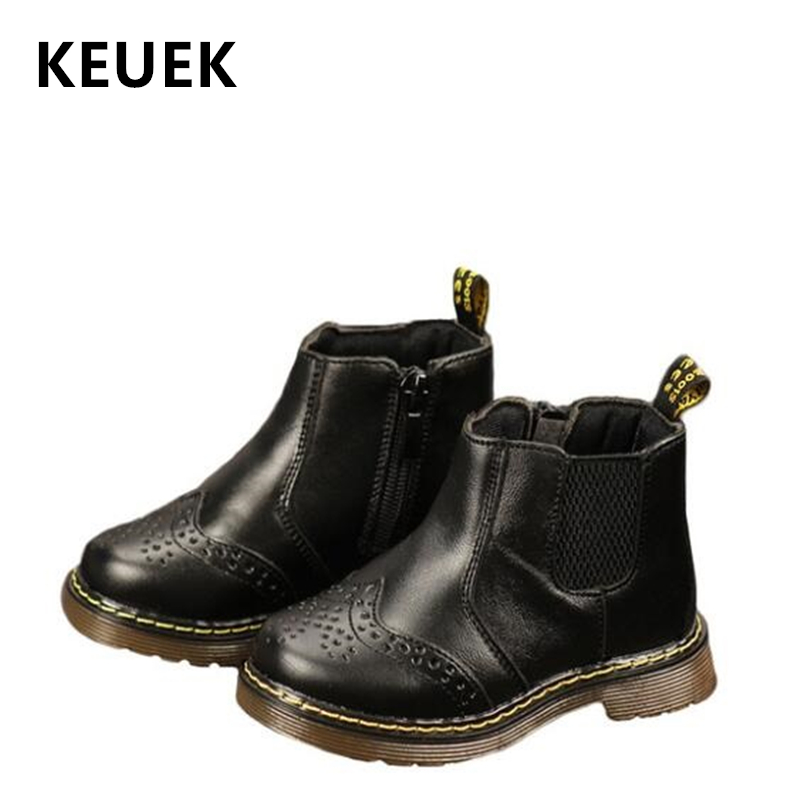 Autumn Winter Children Children Ankle boots Genuine leather Zipper Motorcycle boots Boys Girls shoes Warm Plush Sown boots 04Autumn Winter Children Children Ankle boots Genuine leather Zipper Motorcycle boots Boys Girls shoes Warm Plush Sown boots 04
