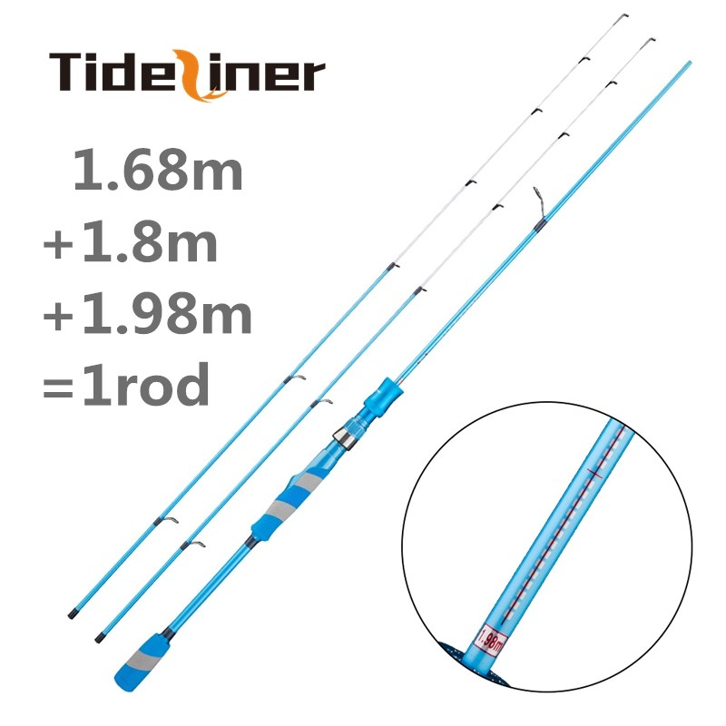 UL adjustable spinning fishing rod 2 tips telescopic ultralight quality carbon fiber lure fishing rod 1