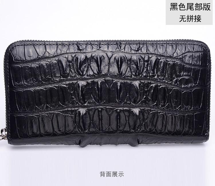 Genuine Real Belly Alligator Crocodile Skin Leather Man Bifold Black Wallet