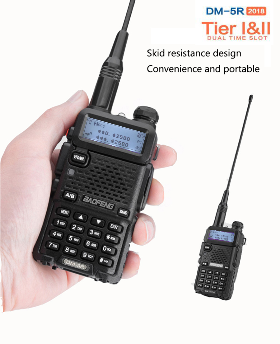 2019 baofeng Dmr TDMA dual time slot Dm 5R Digital Analog dual band Radio Walkie Talkie