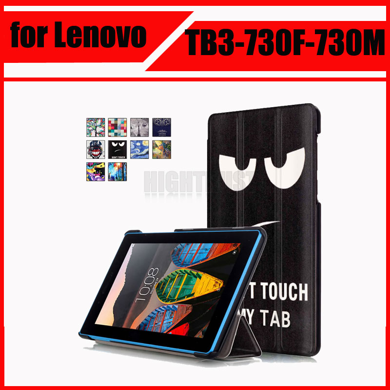 Magnetic Stand pu leather Case For Lenovo Tab 3 7 730 730F 730M 730X TB3-730F TB3-730M 7 tablet cover cases + Screen Protector ultra slim custer fold folio stand pu leather magnetic cover protective skin case for lenovo tab3 7 tb3 730m tb3 730f 7 tablet