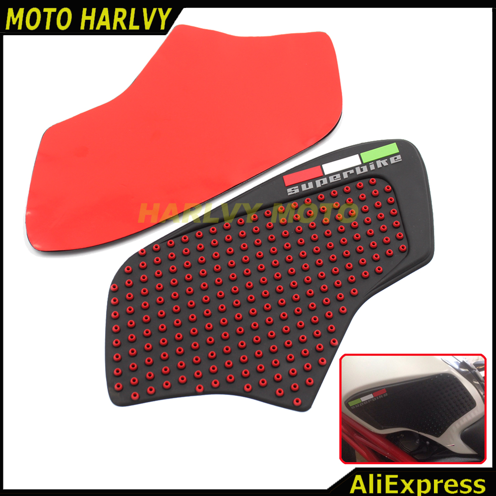 Motorbike Accessories Pair Of Anti-slip Gas Tank Traction Pad Knee Grip Sticker For Ducati Monster 696 795 796 1100