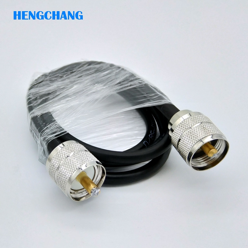 все цены на 100CM UHF male plug PL259 SL16 male to SL16 male plug RF Pigtail Jumper Coaxial Cable RG58 1pcs
