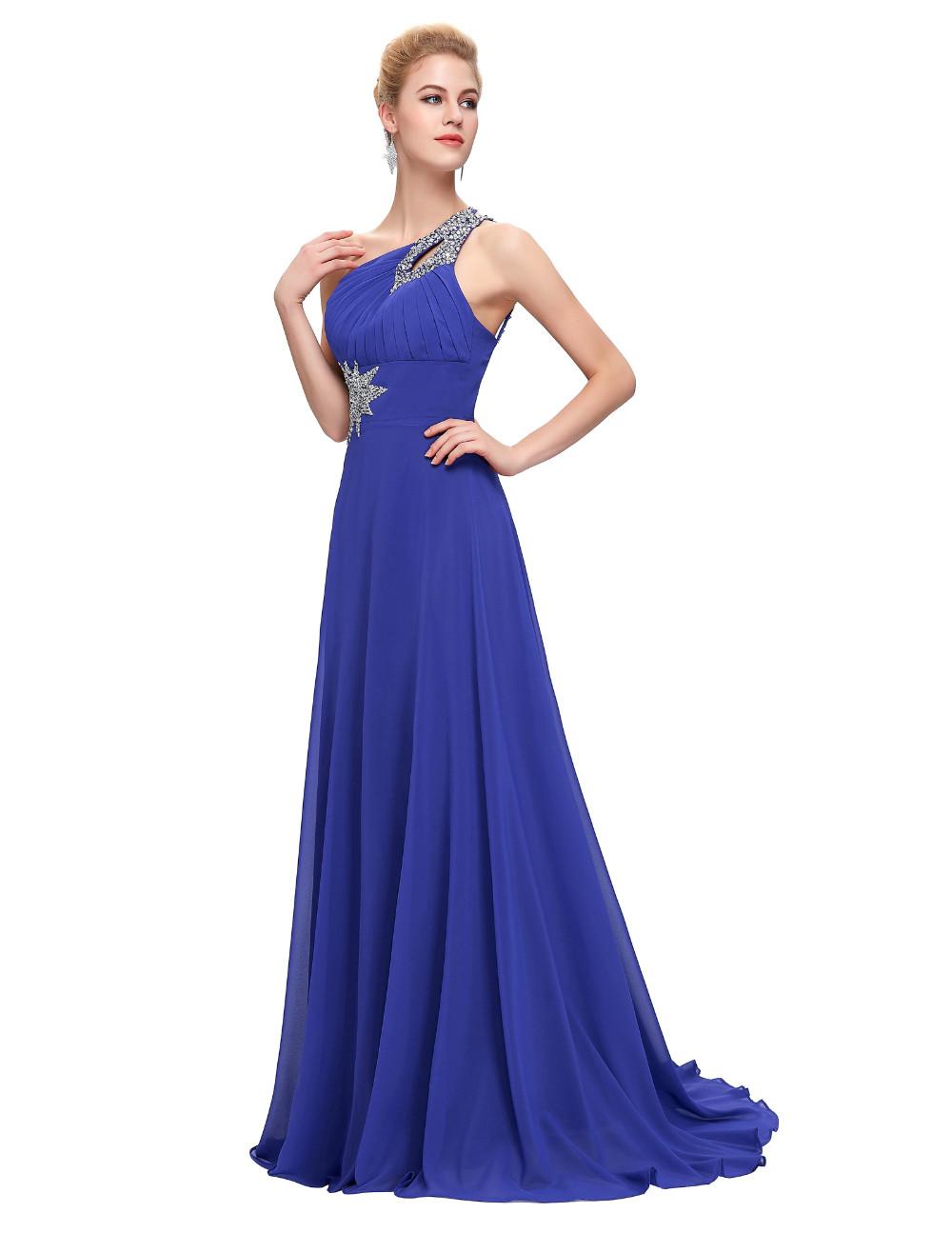 Elegant One Shoulder Long Bridesmaid Dress 7