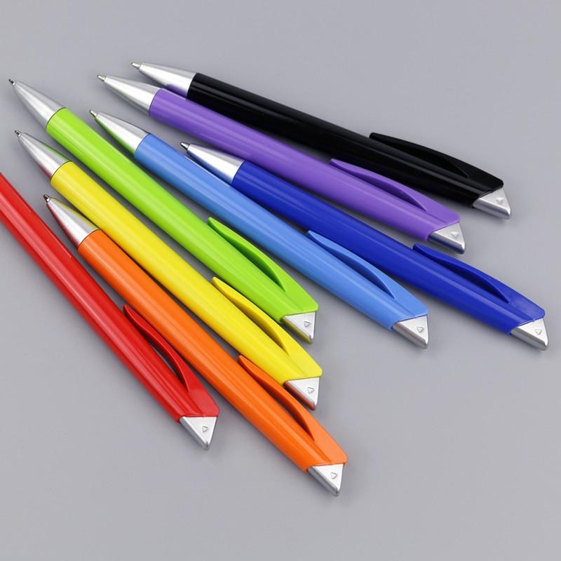 500 pcs lot Plastic promotional pens for writing custom logo gift ballpen in Banner Pens from Office School Supplies