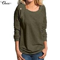 New Long Sleeve Vintage Blouse 2017 Autumn Winter Women Shirt O Neck Zipper Hollow Out Blusas