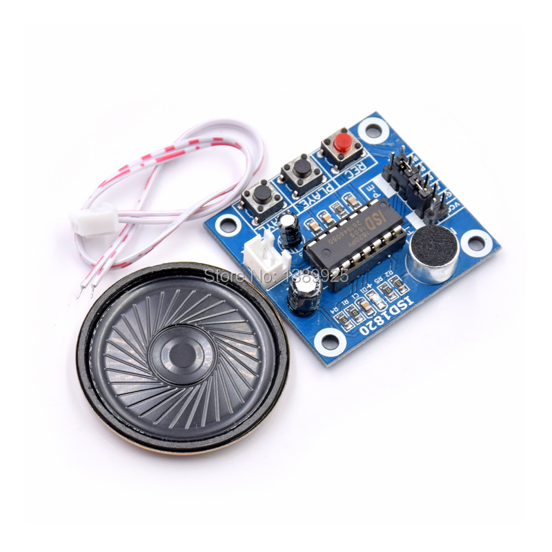 Free shipping 10pcs /LOT ISD1820 Voice Recording Recorder Module With Mic Sound