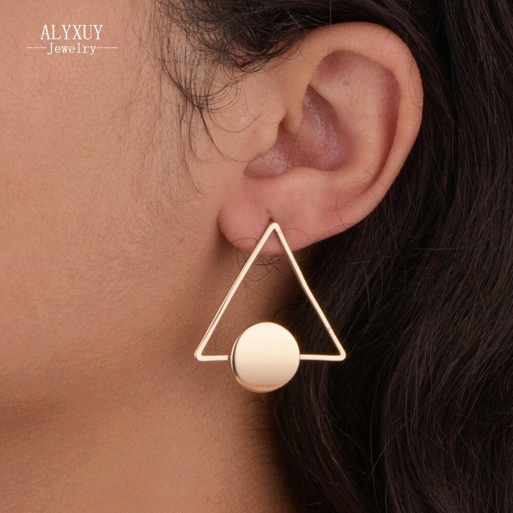ᗕNueva joyería de la manera Simple de cobre Triángulo pendiente del ...