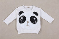 Girls 2Pcs Sets Panda Bat Sleeve Tops With Leggings Kids Baby Clothes Outfits 2 To 7Y