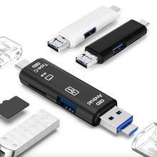 2 farben Alle in 1 Usb Kartenleser High Speed SD TF Micro SD Kartenleser Typ C USB C micro USB Speicher OTG Kartenleser