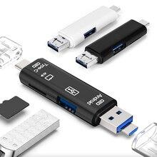 Lecteur de cartes SD Micro SD de Type C Usb C, USB C ard, 2 couleurs en 1, haute vitesse, lecteur de cartes SD, TF