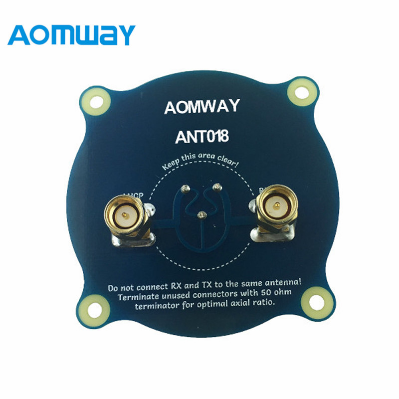 Aomway ANT018 Triple Feed Patch-1 5.8G 8dBi RHCP/LHCP FPV Pagoda Antenna SMA/RP-SMA Male For RC FPV Racing Camera Drone 5 8ghz immersion fatshark spironet lhcp rhcp patch antenna sma 13dbi gain for fpv drone quadcopter